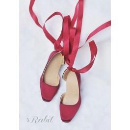 1/3Girl/SD10/13 Flatfeet /Ballet Mary Jane shoes[BLS007] Silk Wine
