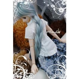 [Monde] 1/3 Girl - Stand-collar Shirt /ONT130859 (White)