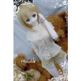 [Monde] 1/3 Girl - Stand-collar Shirt /ONT130859 (Beige)