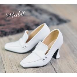 IP Women/1/3Boy Highheel Loafers - RSH006 White