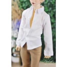 70cm up+ * Oxford Plain L/S Shirt - SH011 003 White
