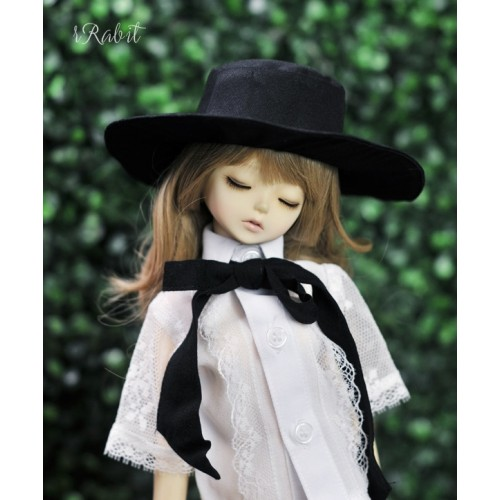 1/4[Witchcraft Academic] Wide Brimmed hat - AS006 001(Black)
