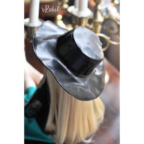 1/4[Witchcraft Academic] Wide Brimmed hat - AS006 002(Leather)