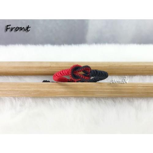 [Monde] 1/3 Lover Bracelets (Lock) Black-Mix-Red