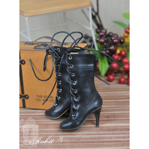[Pre]1/4 - MSD/MDD/MiniFee/AngelPhillia - Antique high heels pumps boot BLS008 - Black