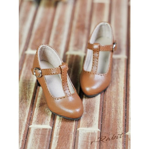 1/3Girls Highheels/DD T-straps high heels [BLS009] - Toffee