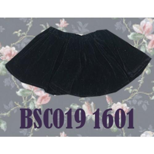 1/4 Velvet Skirt - BSC019 1601 (Black)