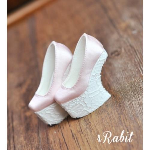 1/4 HighHeels/MDD/AP/Minifee/Unoa [Coven Four] Curve Platform High Heels - Pink/Lace