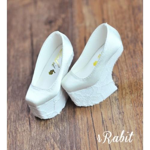 1/4 HighHeels/MDD/AP/Minifee/Unoa [Coven Four] Curve Platform High Heels - White/Lace