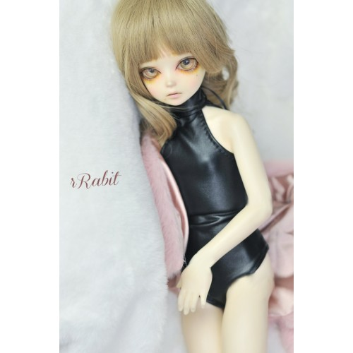 1/4 /MDD Leather swimsuit DF004 001 (Smooth Black leather)