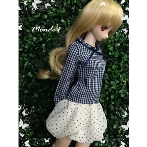 [Monde] 1/3 Girl - Polka dot  Bubble skirt /ONB130854 (White)