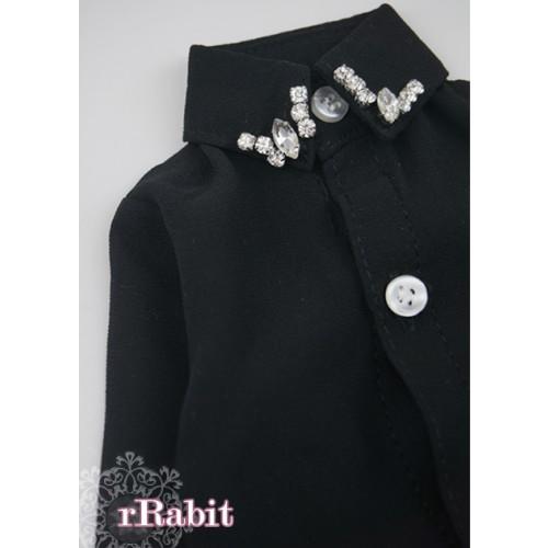 [Limited] 70cm up+ * Chiffon+Stone Shirt - LC009 001 Black