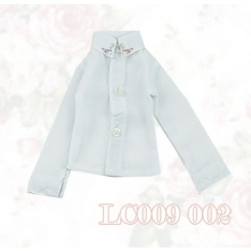 [Limited] 1/4* Chiffon+Stone Shirt - LC009 002 White