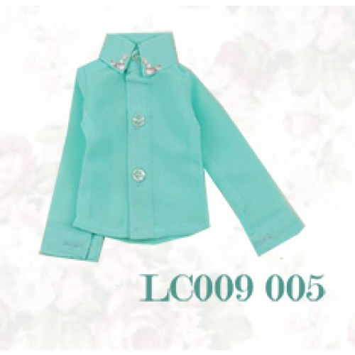 [Limited] 1/4* Chiffon+Stone Shirt - LC009 005 Tiffany blue