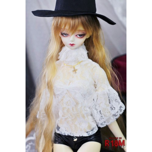 [R18M] 1/3 Girl Gloria Lace Blouse - RM005 005 (White Flower Lace)