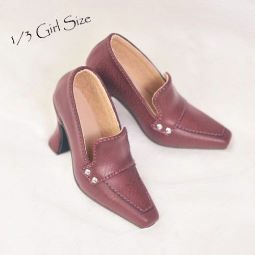 [Pre]1/3Girl/DD/SD16 Boot- Highheel Loafers - RSH006 Wine