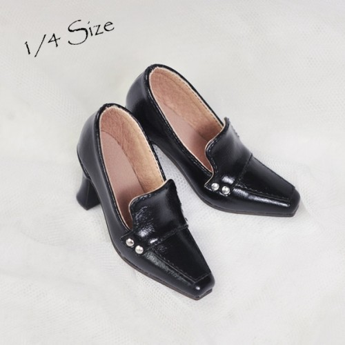 1/3Girl/DD/SD16 Boot- Highheel Loafers - RSH006 Dark Night