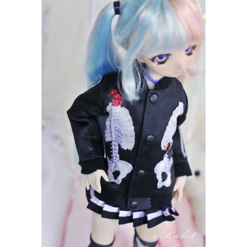 [1/4 MSD/MDD] Bone's Varsity jacket - Black Skeleton SH060 2101