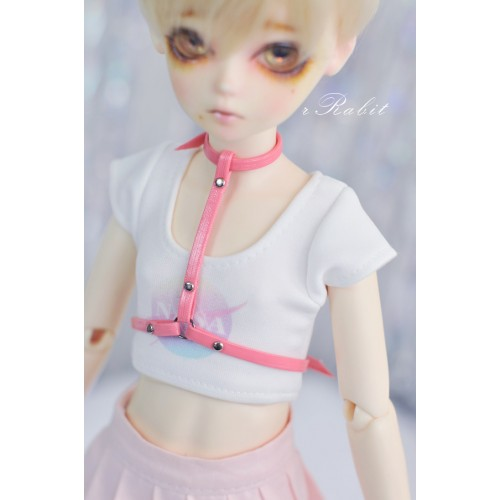 [1/4/MDD] T-Ring - Peach Leather Accessory - ZD011