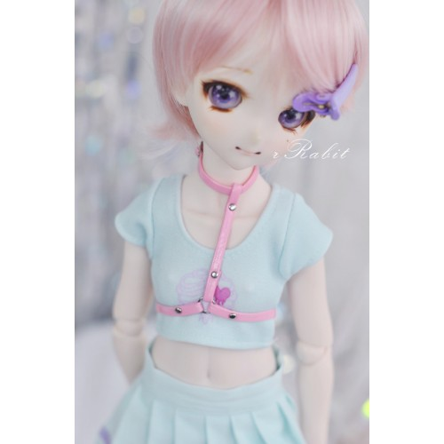 [1/4/MDD] T-Ring - Pink Leather Accessory - ZD011