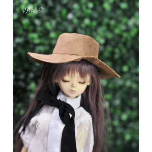 1/4[Witchcraft Academic] Wide Brimmed hat - AS006 005(Brown suede)