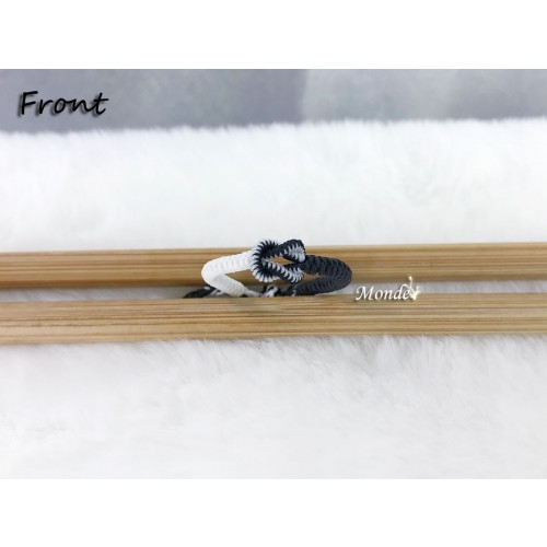 [Monde] 1/3 Lover Bracelets (Lock) Black-Mix-White