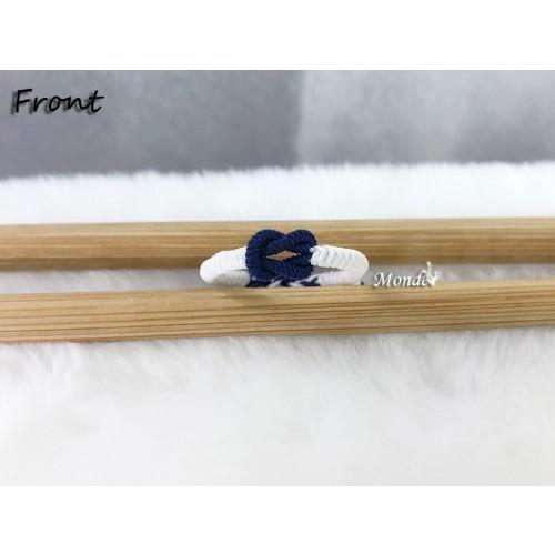 [Monde] 1/3 Lover Bracelets (Lock) Blue-White