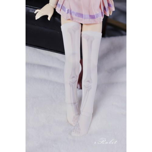 [1/4/MSD/MDD] Sock - White skeleton - BS210102