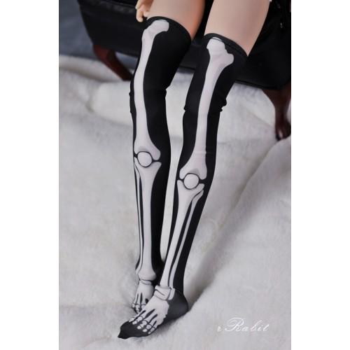 1/3 Girl/DD Socks - Black skeleton - BS210103