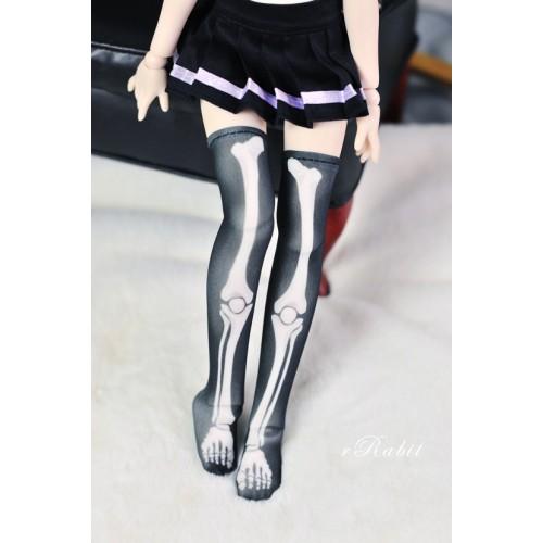 [1/4/MSD/MDD] Sock - Black skeleton - BS210103