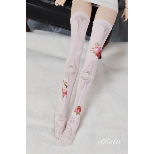 1/3 Girl/DD Socks - Rose skeleton (Pink) - BS210105