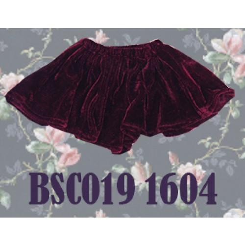 1/4 Velvet Skirt - BSC019 1604 (Wine)