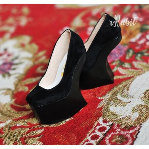 1/4 HighHeels/MDD/AP/Minifee/Unoa [Coven Four] Curve Platform High Heels - Black Velvet (Basic Ver.)