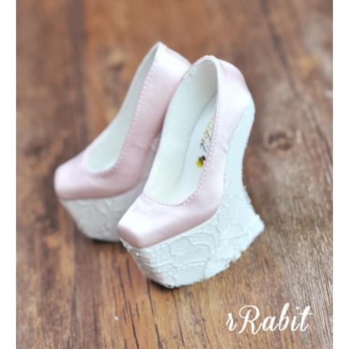 1/3 Girls Highheels /DD [Coven Four] Curve Platform High Heels - Pink/Lace
