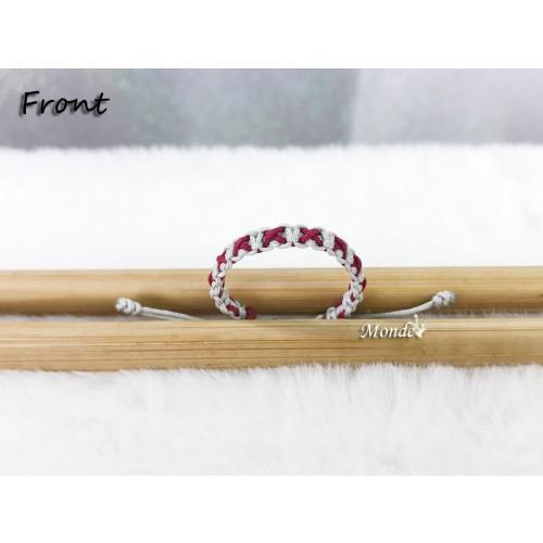 [Monde] 1/3 Lover Bracelets (Cross) Gray-x-Wine