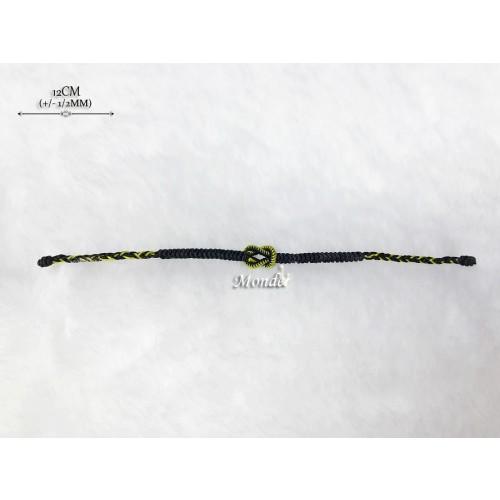 [Monde] 1/3 Lover Bracelets (Lock) Black-Mix-Gold