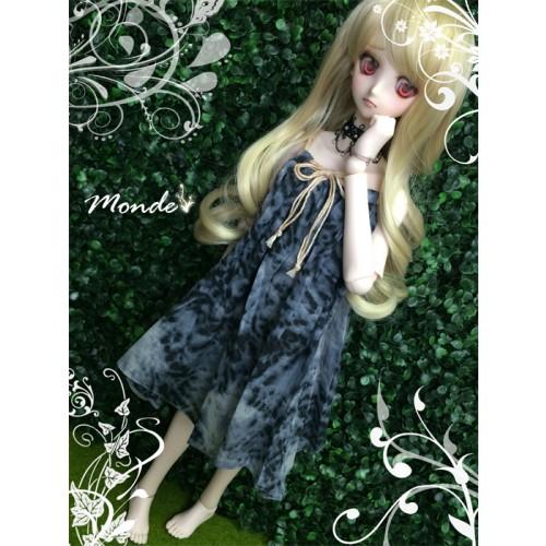 [Monde] 1/3 Girl - Suspender skirt OND130853 (Dark Blue)