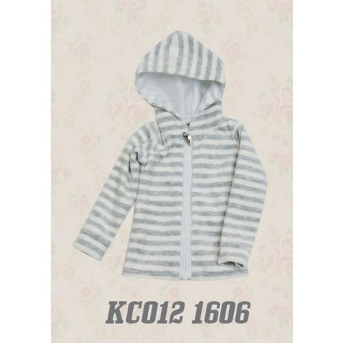 1/4 Plush hoodie coat - KC012 1606 (Boys & Girls)