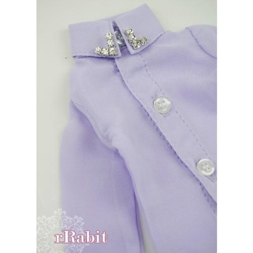 [Limited] 1/4* Chiffon+Stone Shirt - LC009 003 Lilac