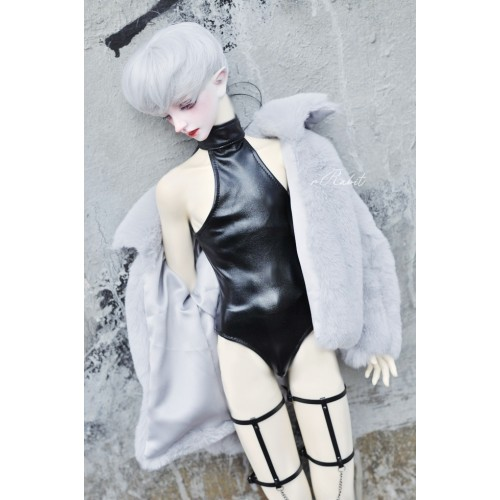 SD17/popo68 Leather swimsuit DF004 001 (Smooth Black leather)
