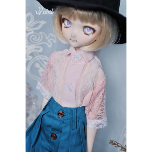 1/3 [Witchcraft Academic] - Jojina Shirt - CVZ001 003 (Pink w/ Blue ribbon)