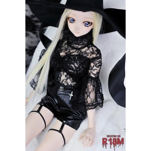 [R18M] 1/3 Boy Shorts w/ bind - RM006 001 (Regular black leather)