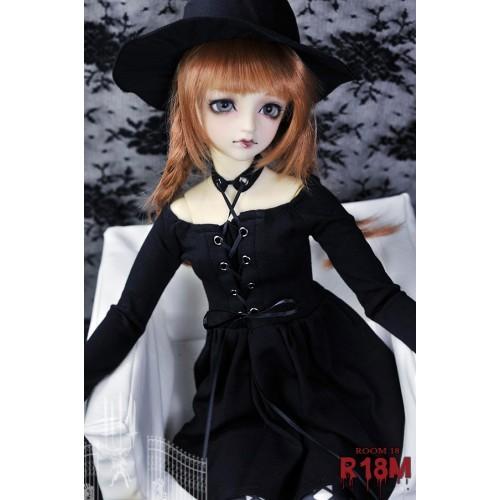 [R18M] 1/3 Girl/DD Witch Black Dress -  RM008 001 (Classic Black)