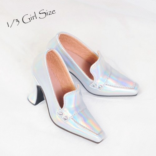 1/3Girl/DD/SD16 Boot- Highheel Loafers - RSH006 Space Silver