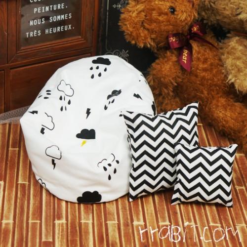 All size ★ Beanbag Sofa - Coludy days +Cushion