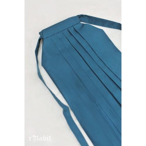 1/4 Hakama 行燈袴 (Japanese Bottom Dress) TS001 1715 (Turkish blue)