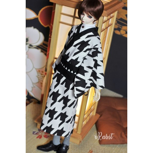 1/3Boy/SD17 Kimono - B&W Houndstooth