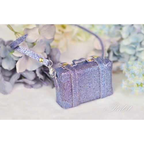 1/3 & 1/4 & 1/6 mini Suitcase - Violet Glitter