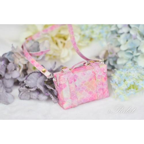 1/3 & 1/4 & 1/6 mini Suitcase - Pink Squama