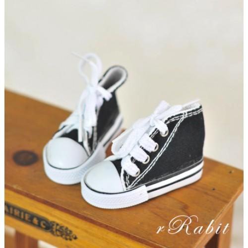 [1/4 & 1/3 Girl] Cute Sneakers - US001 Black